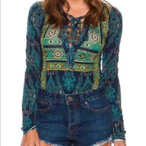 Free-people Aloha lace up top